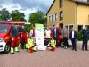 Übergabe der neuen First-Responder-Hosen an die Feuerwehr Stein