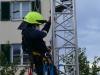 Übung am Klettergerüst am Forum Stein
