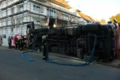 Einsatz umgestürzter LKW